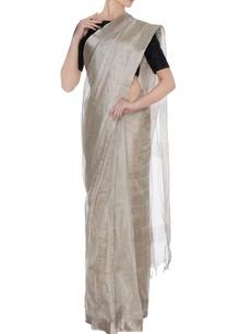 silver-tussar-silk-saree