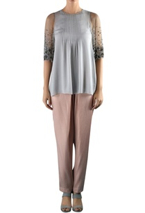 grey-viscose-pin-tuck-embellished-blouse