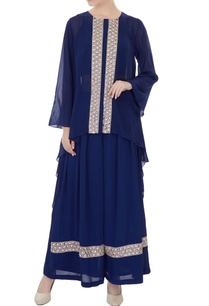 navy-blue-embroidered-georgette-kurta-with-moss-pants