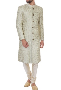 light-green-silk-jaal-zari-embroiered-sherwani-with-kurta-churidar