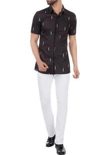 black-ikat-print-classic-shirt