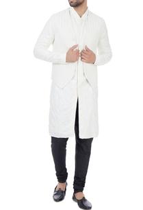 vanilla-kurta-with-vanilla-suiting-fabric-embroidered-bundi