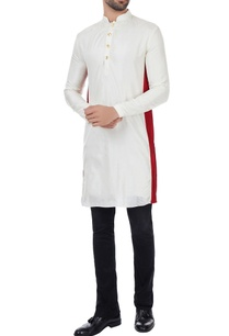 vanilla-silk-classic-kurta-with-red-border-on-sides
