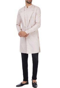 dusty-salmon-mock-lapel-classic-kurta
