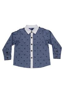 blue-zebra-print-shirt