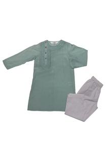 aqua-blue-white-cotton-silk-embroidered-kurta-with-pyjama