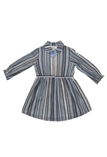 blue-cotton-striped-dress-with-gathered-waist
