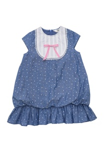 blue-cotton-star-print-balloon-dress-with-bib-lace-detail
