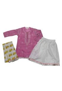 pink-white-silk-chikankari-kurta-with-palazzo-dupatta