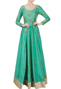 teal-blue-silk-embroidered-anarkali-with-lycra-pants