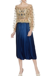 beige-off-shoulder-net-sequin-embroidered-blouse-with-crop-top
