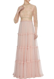 peach-chiffon-tiered-style-resham-embroidered-gown