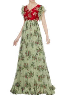 red-raw-silk-zardozi-hand-embroidered-chiffon-gown