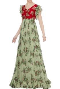 red-raw-silk-zardozi-hand-embroidered-chiffon-gown
