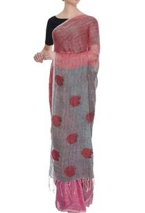 pale-pink-grey-linen-jamdani-saree-with-blouse-piece