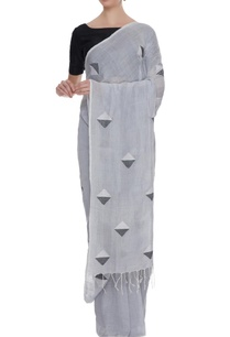 pale-grey-cotton-linen-jamdani-sari-with-blouse-piece