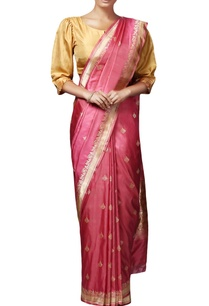 pink-mulberry-silk-brocade-sari-with-blouse-piece
