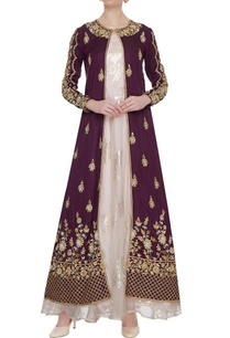 burgundy-zardozi-embroidered-jacket-with-organza-gown