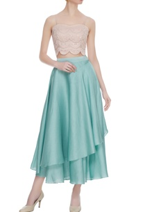 blue-dupion-crepe-layered-skirt-with-lucknowi-bustier