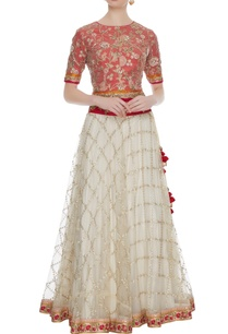 red-off-white-net-embroidered-lehenga-set
