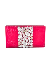 hot-pink-rectangle-box-clutch