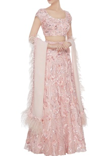 blush-pink-rosette-hand-embroidered-lehenga-with-blouse-feather-dupatta