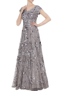 silver-3d-rosette-tulle-net-anarkali-gown-with-cap-sleeves