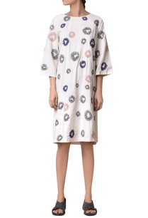 off-white-cotton-hand-machine-embrodiered-short-dress