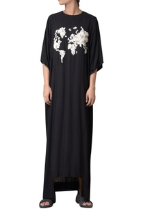 black-viscose-slub-hand-embroidered-maxi-dress
