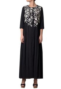 black-button-down-shirt-maxi-dress