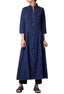 navy-blue-cotton-hand-machine-embroidered-kurta-with-pants