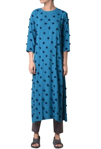 blue-viscose-slub-machine-embroidered-long-tunic
