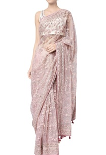 onion-pink-net-embroidered-navanya-sari-with-chanderi-silk-blouse