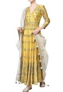 yellow-chanderi-mull-embroidered-saranya-anarkali-with-churidar-dupatta