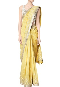 yellow-maheen-chanderi-mullmull-sari-with-chanderi-silk-blouse