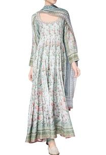 sage-green-sanchaari-modal-printed-kurta-with-chanderi-silk-churidar-modal-silk-mullmull-dupatta