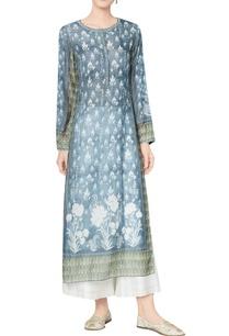 vintage-blue-cotton-voil-checks-inia-kurta