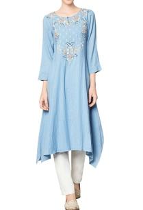 blue-cotton-georgette-embroidered-ishira-tunic