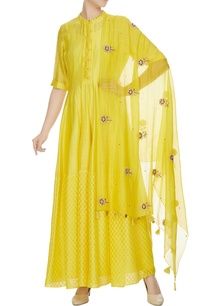 yellow-chanderi-potli-dress-with-slip-hand-work-dupatta