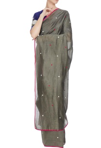 grey-chanderi-hand-embroidered-saree-with-blouse