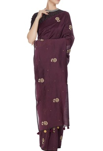 purple-chanderi-hand-embroidered-saree-with-blouse
