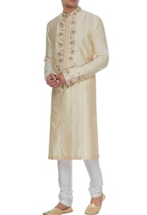 cream-dupion-silk-gota-embroidered-kurta