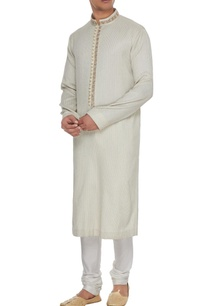 cream-dupion-silk-gota-embroidered-button-down-kurta-churidar