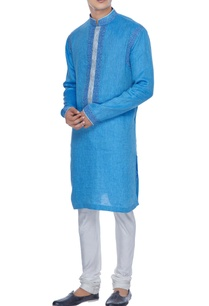 blue-resham-embroidered-textured-kurta-set