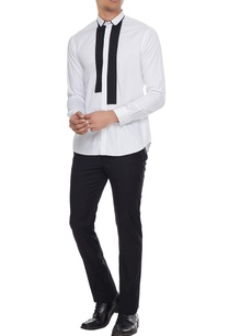 white-dress-shirt-with-black-patchwork-detail