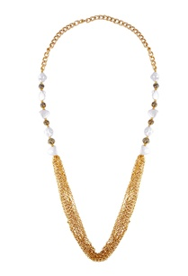 gold-white-alloy-shell-pearl-with-ball-and-gold-chain-necklace