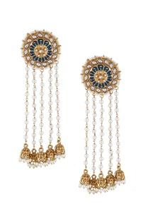 multi-colored-alloy-meena-stud-earring