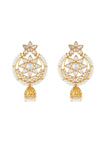 gold-white-alloy-round-uncut-jhumka