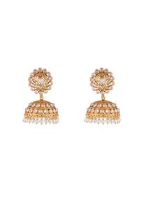 gold-white-alloy-round-uncut-jali-jhumka