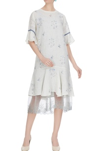 white-linen-floral-hand-block-printed-midi-dress